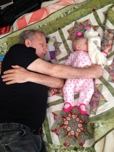 grandpa and Melody taking a snooze