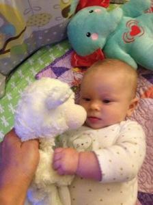 Melody's favorite sleeping buddy- Lamby!!